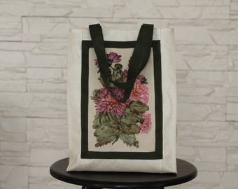 Beautiful handmade bag with satin ribbons embroidery_Fisenko brand
