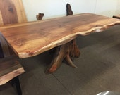Redwood Table w/ Stump Ba...