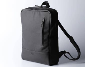 Leather backpack men, Leather backpack women, Leather backpack laptop, Leather rucksack, Black leather backpack