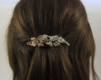 Grapevine French Barrette 70mm- Wine lovers Gift- Gift for Gardeners- French Hair Clip