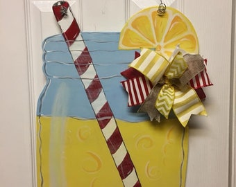 Lemonade Wooden door hanger