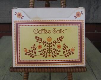 Vintage 8 Coffee Talk stationary design cards w/envelopes