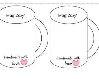 Coffee Cup Cozy Template Inserts Printable Holder