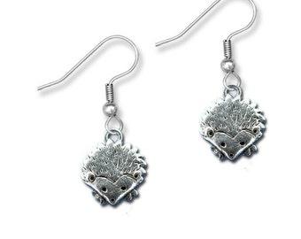 Pewter Hedgehog Earrings