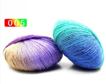 2 - Rainbow Wool Anti-pilling Yarn Skeins - #5