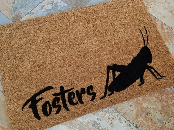 Spring Decorations, Custom Door mat, Spring Door Mat, Cute Home Decor, Garden Lover Gifts, Rugs, Welcome Mat, Garden Decor, Grasshopper