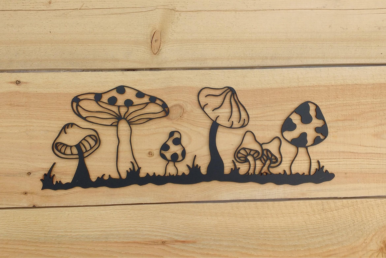 Mushroom Garden Wall Art Metal Mushroom Modern Metal Art