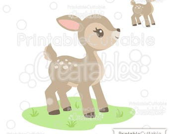 Cute Woodland Deer SVG Cut File & Clipart E258 - Includes Limited Commercial Use!