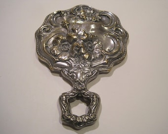Vintage Shabby Chic Victorian Hand Mirror
