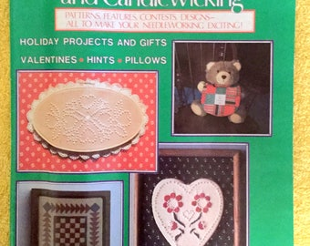 Women's Circle Counted Cross Stitch and Candlewicking 1985