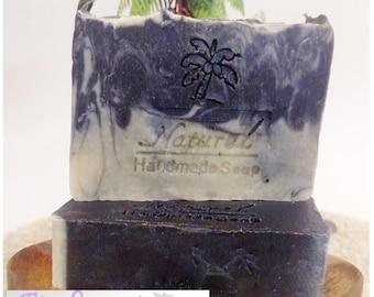 Activated Charcoal Soap / Detox Soap / Essential Oil Soap / Natural Soap / Antibacterial Soap / 5oz bar soap / Vegan Soap / face soap