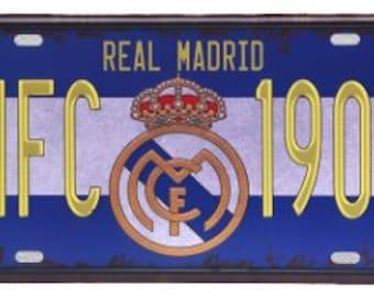 REAL MADRID FC - Vintage License plate