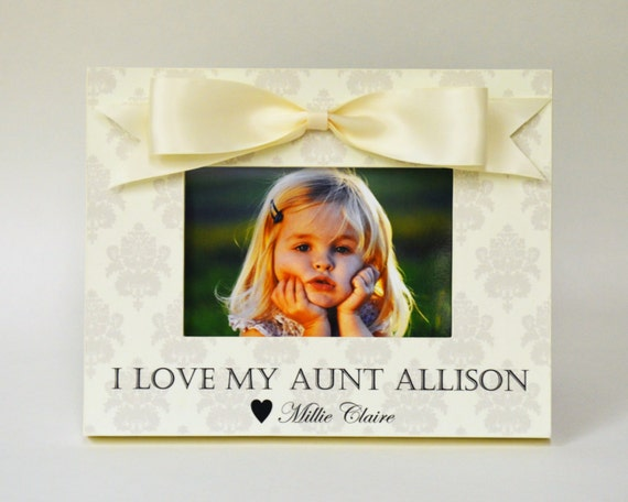 Personalized Aunt Picture Frame Gift from Niece Nephew to Auntie ...