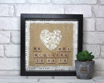 Personalised wedding gift - wedding gift for couple - Wedding gift ideas - Mr & Mrs - Unique wedding gift - wedding frame - gift for couple