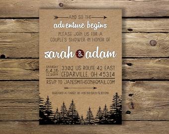 Rustic Shower OR Wedding invite - Customizable & Printable!