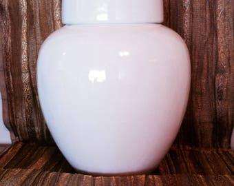 Ceramic Rose Jar-White Collection