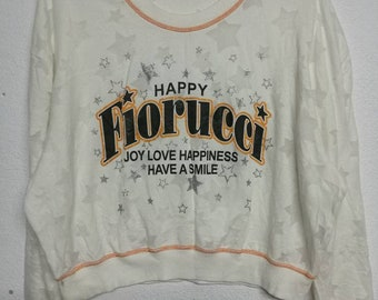 Fiorucci Happy Joy Love Happiness Have A Smile Size M Sweatshirt
