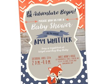 Adventure Baby Shower Invitations, The Adventure Begins, Baby Shower, Baby Shower Invitation, Adventure, Printable Baby Shower Invitations