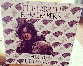 Game of Thrones - Jon Snow Birthday Card