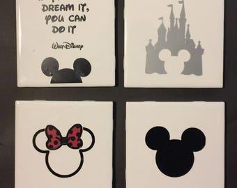 Custom 4pc Coaster Set - Disney