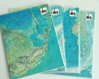 Map Paper Pack Wedding DIY Decorations Travel Themed Wedding 15 Large Sheets All Matching Scrapbook