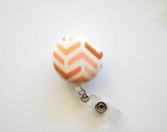 Peach Chevron Badge Reel