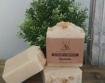 Gardenia Handmade Soap All Natural |  Aromatherapy | Spa Relaxation | Skin Care | Bath Products | Beauty Products | Bath and Body