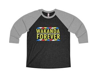 Wakanda Forever Black Panthers Raglan Shirt