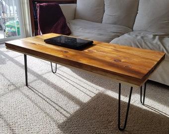 Rustic Hair Pin Coffee Table