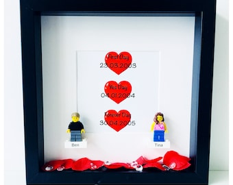 Personalsed Lego Valentines frame