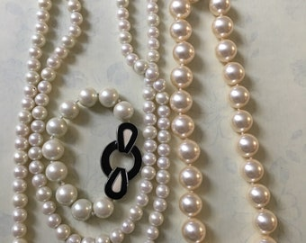 Stunning beautiful Vintage faux pearl necklaces by HOBBS London / #hobbs