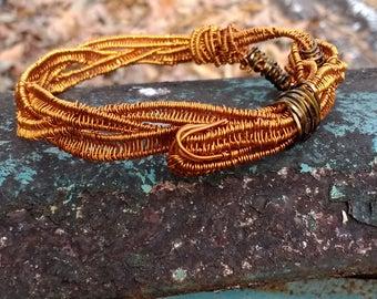 Wire Wrapped Bracelet, Wire Wrapped Jewelery, Copper Bracelet, Wire Jewelery