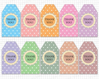 "Printable Thank You Tags: ""Thank You Printable Tags"" DIY Thank You Tags, Printable Favor Tags, Thank You Labels, Thank You Gift Tag"