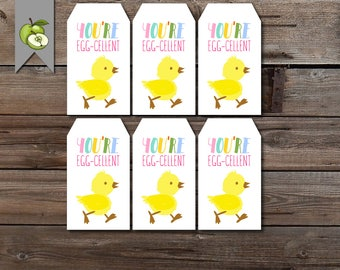 Easter gift tags etsy eater gift tag egg cellent egg gift tag class gift teacher class negle Image collections