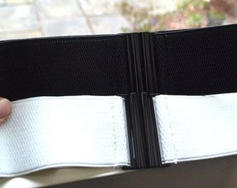 Cinch belt ,Wide elastic stretch corset belt, cinch belt ,White belt, Black belt, 24 to 29 inch, Belt,Wide belt,