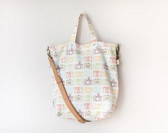 Crossbody Convertible Bag / Canvas Bag / Tote Bag - lomo camera (50% OFF)