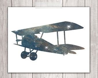 Airplane Wall Decor - 8x10 Airplane Prints, Printable Nursery, Stars, Boy Nursery, Airplane Nursery Art, Planes, Nursery Decor