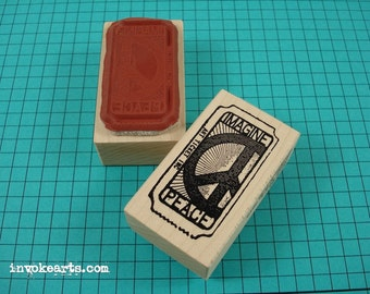Peace Ticket Stamp / Invoke Arts Collage Rubber Stamps