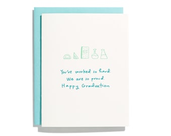 So Proud of You Grad - Letterpress Congratulations Card - CC275