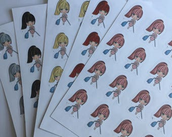S36.5 - Pretty Dolls Stickers Clean Up