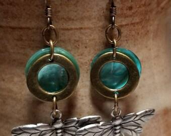 Handmade Earrings - DRAGONFLIES - Niobium Hypoallergenic Earwires