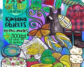 Kiwiana Clip Art - World Famous in New Zealand!  Instant Digital Download