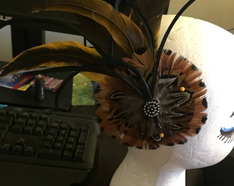 Feathered Fascinator/Hair Piece