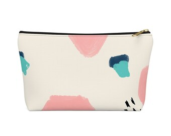 Geometric Patterned Make Up Bag  Geometric Bold Cosmetic Bag  Geometric Carry All Pouch