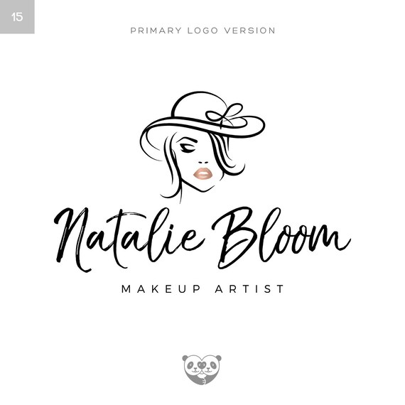 Rose Gold Makeup Logo Make-up Artist Logo Beauty Logo