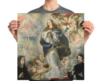 The Immaculate Conception by Juan de Valdes Leal - Catholic Poster - Virgin Mary posters - religious prints