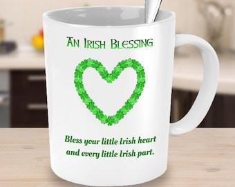 An Irish Blessing Mug, Funny Irish Blessing, Gaelic Blessing, Irish Coffee Mugs, St Patricks Day Gifts, Celtic | Irish Sayings, Shamrock Mug