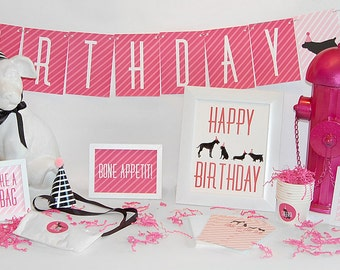 Girl Dog Party In A Box  Adoption or Birthday Party