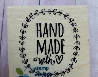 Handmade With Love Momenta Wood Mounted Rubber Stamp Scrapbooking & Paper Craft Supplies