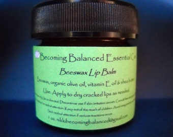 Becoming Balanced Essential Care -Beeswax Lip Balm